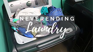 Long LAUNDRY Day // Cleaning Motivation // Cleaning Mom