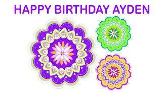 Ayden   Indian Designs - Happy Birthday