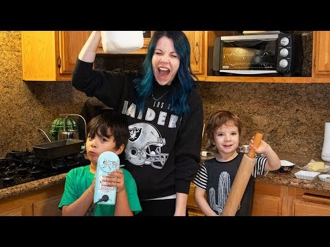 Baking Banana Bread With 2 Kids (DRAMATIC) | Hannah Williams