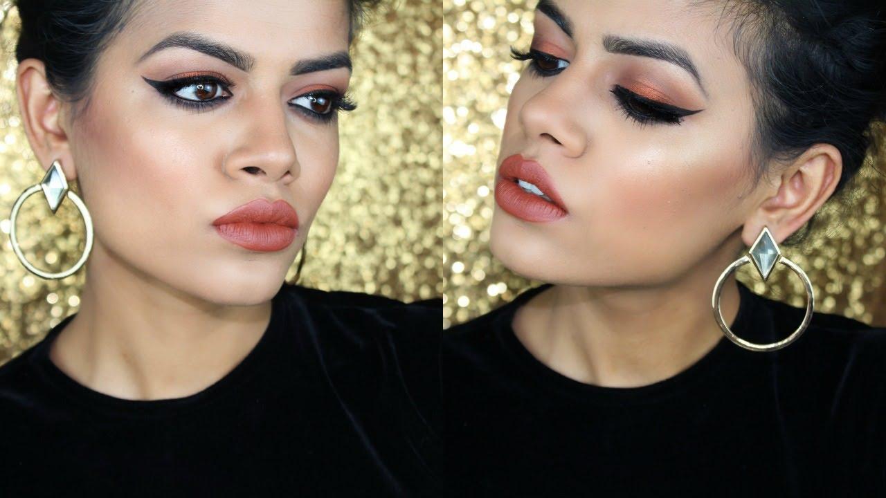 Warm Fall Makeup Tutorial Brown EyesLips