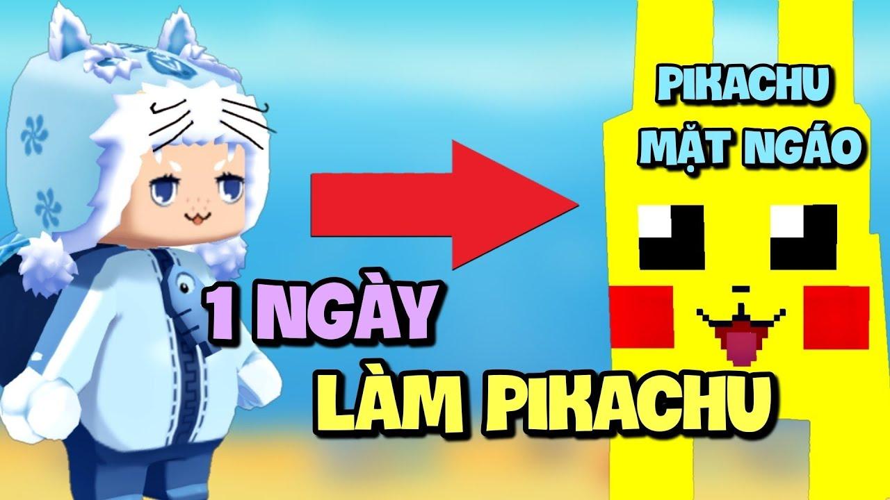 1 ngày làm Pikachu trong Mini World | Mini Game | Meowpeo
