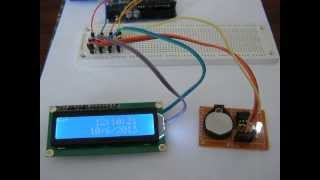 rtc ds1307 lcd1602a using i2c with arduino ii