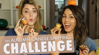 CANDLE SNIFFING CHALLENGE w/ MEGAN BATOON // Grace Helbig
