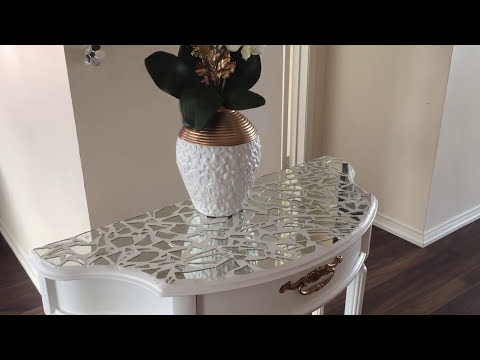 D.I.Y MIRRORED MOSAIC FURNITURE || D.I.Y MIRRORED FURNITURE