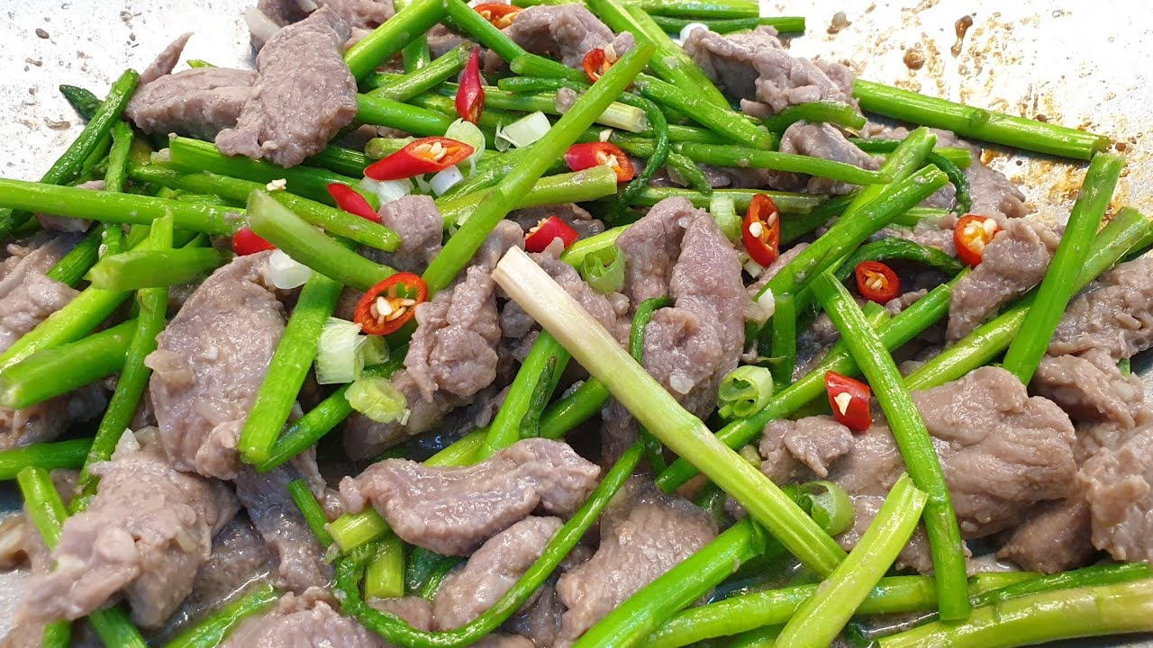 THỊT BÒ XÀO MĂNG TÂY thơm ngon tuyệt vời – món nhậu ngon – món ăn ngon dễ làm