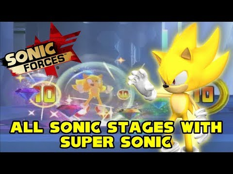Super Sonic Freedom - Sonic Forces 100% (All Sonic Stages with Super Sonic)