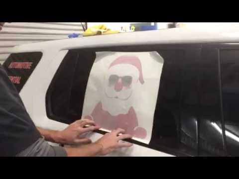 How to install Holiday Graphics to your car.
