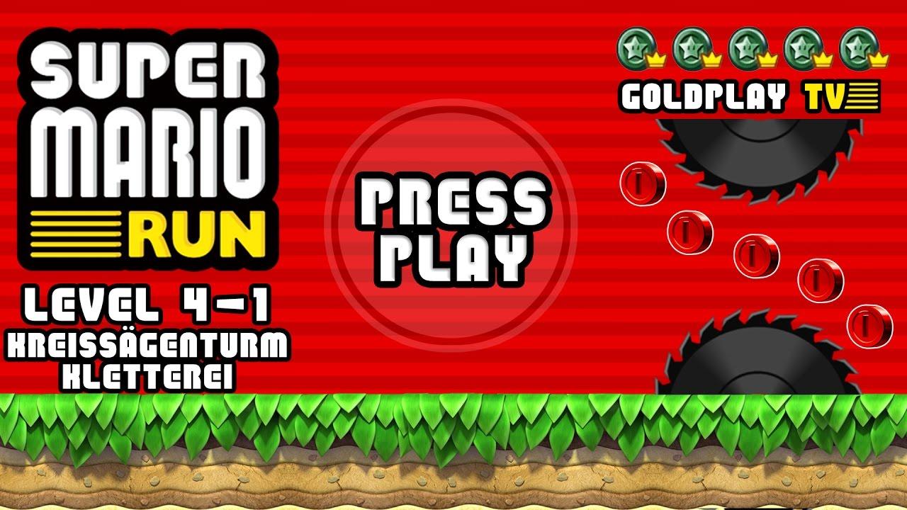 Super Mario Run Level 4 1 Kreissägenturmkletterei Alle