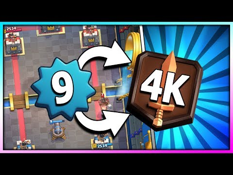 LEVEL 9 in LEGENDARY ARENA 11 - REACHING 4K TROPHIES!! Final Push to Challenger 1 in Clash Royale