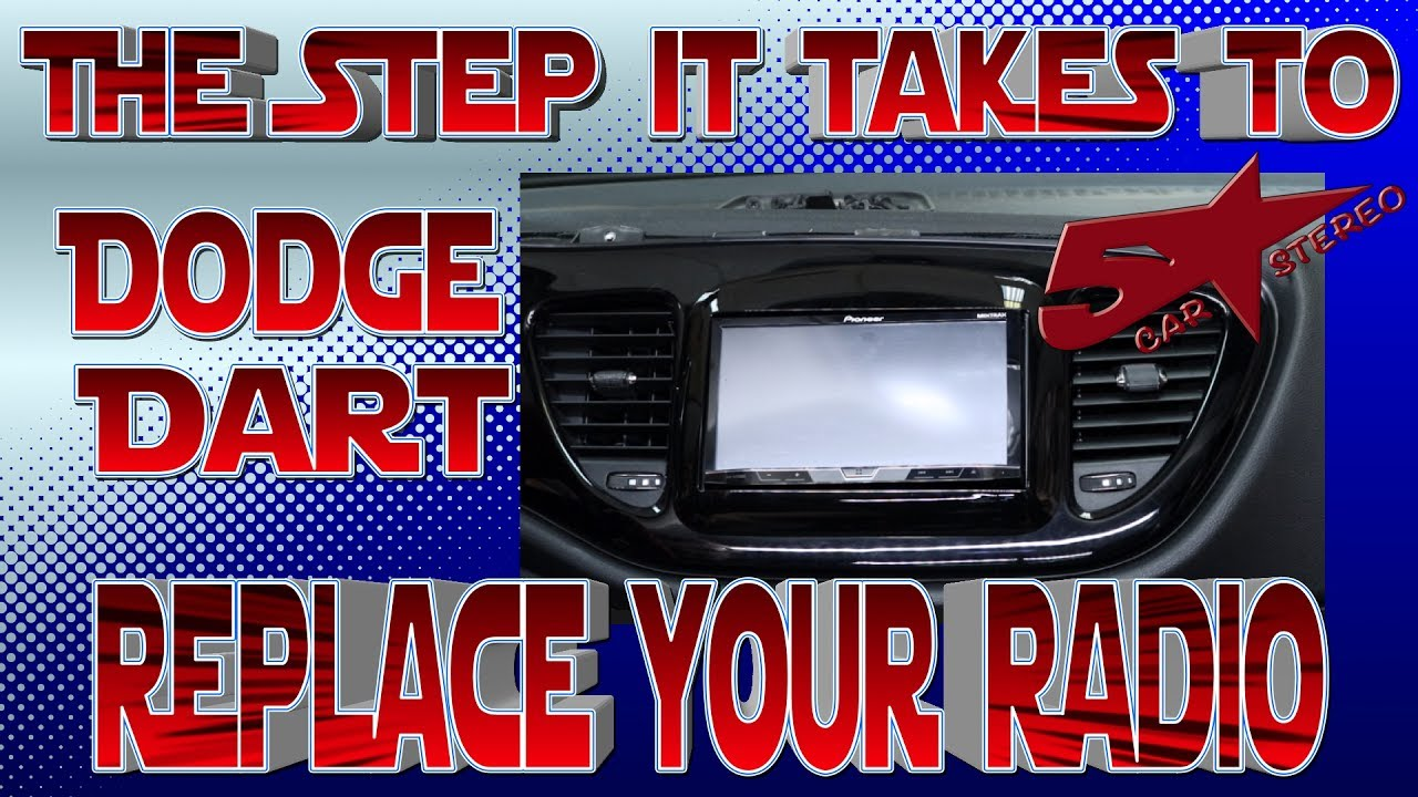 the steps it takes to replace your radio dodge dart [ 1280 x 720 Pixel ]