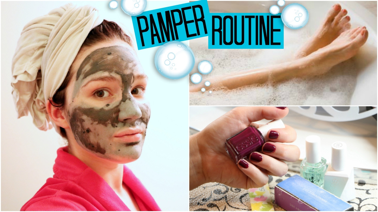 Pamper Routine - Hair & Face Mask, Manicure/Pedicure & more! - YouTube