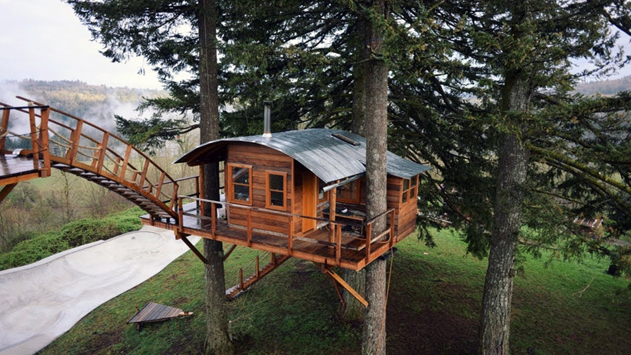 Free treehouse plans and designs youtube for Free treehouse plans and designs