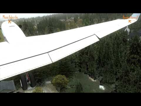 Realistic FSX Beechcraft Kingair visit to ORBX Orcas Islands