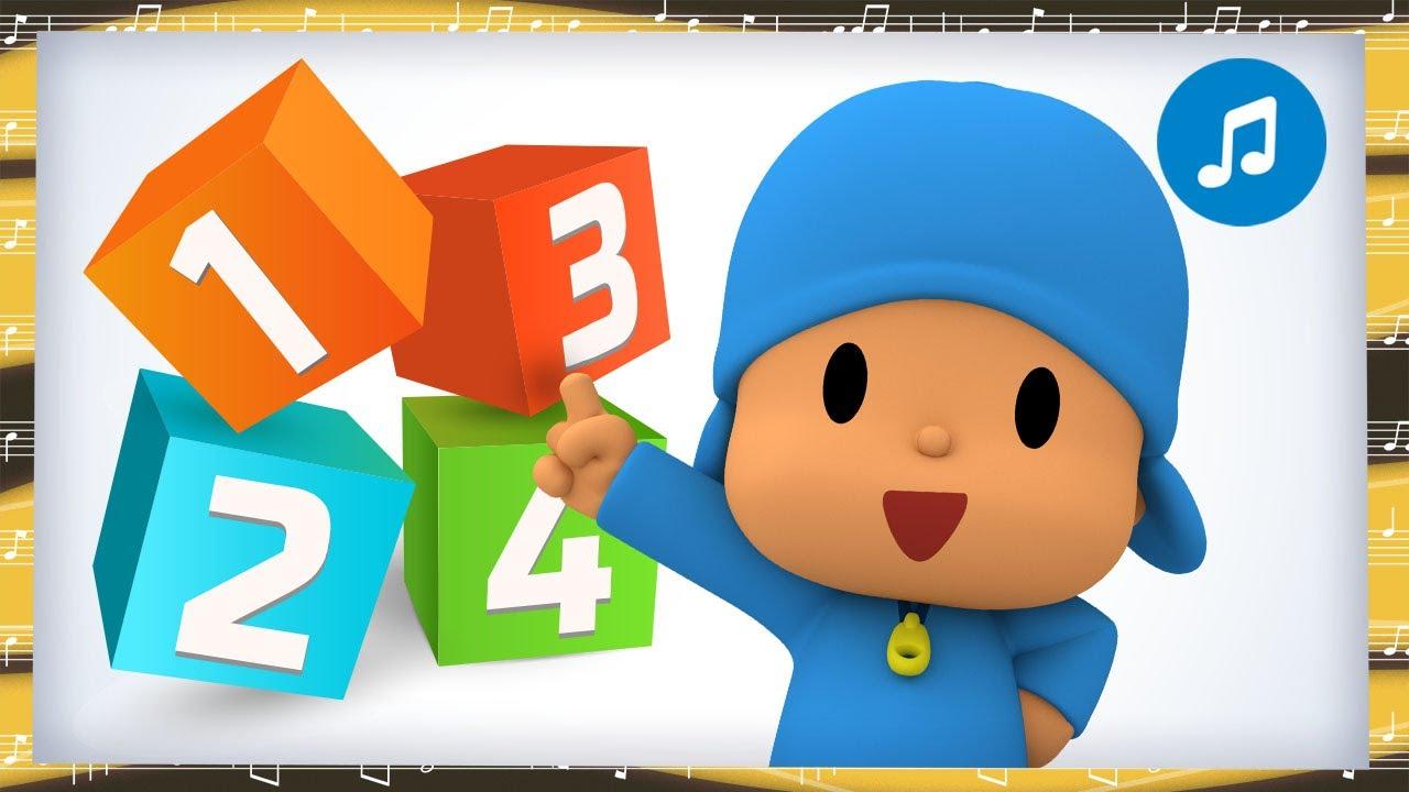 5️⃣  Learn Numbers with 5 Little Monkeys + Nursery Rhymes & Baby Songs - Pocoyo
