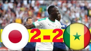 JAPAN VS SENEGAL 2-2 All GOALS & HIGHLIGHT WORLD CUP HD 🔥🔥🔥