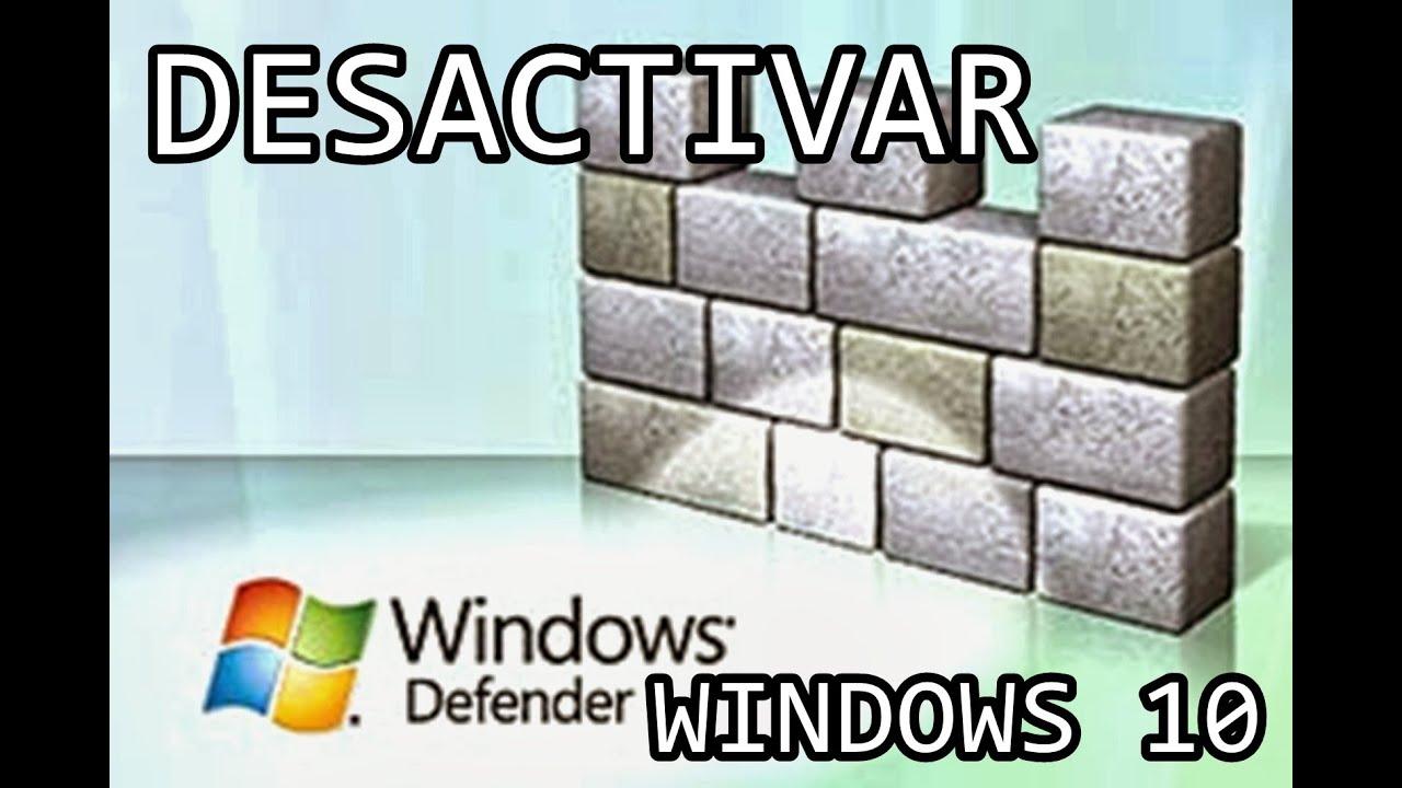Tutorial desactivar windows defender en windows 10 youtube for Window defender