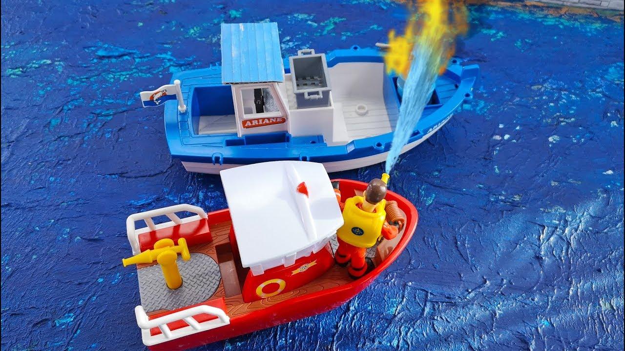 feuerwehrmann sam feuer an bord löschboot titan