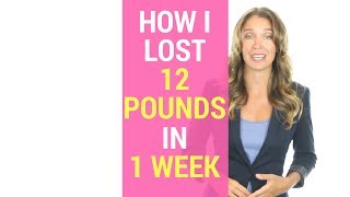 HOW I LOST 12 POUNDS IN 1 WEEK!   Free Sample in Description!