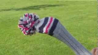 knitcap - gestrickte Golfschlägerhauben leicht auf- und abziehen, Golf Headcover, Golfgeschenk