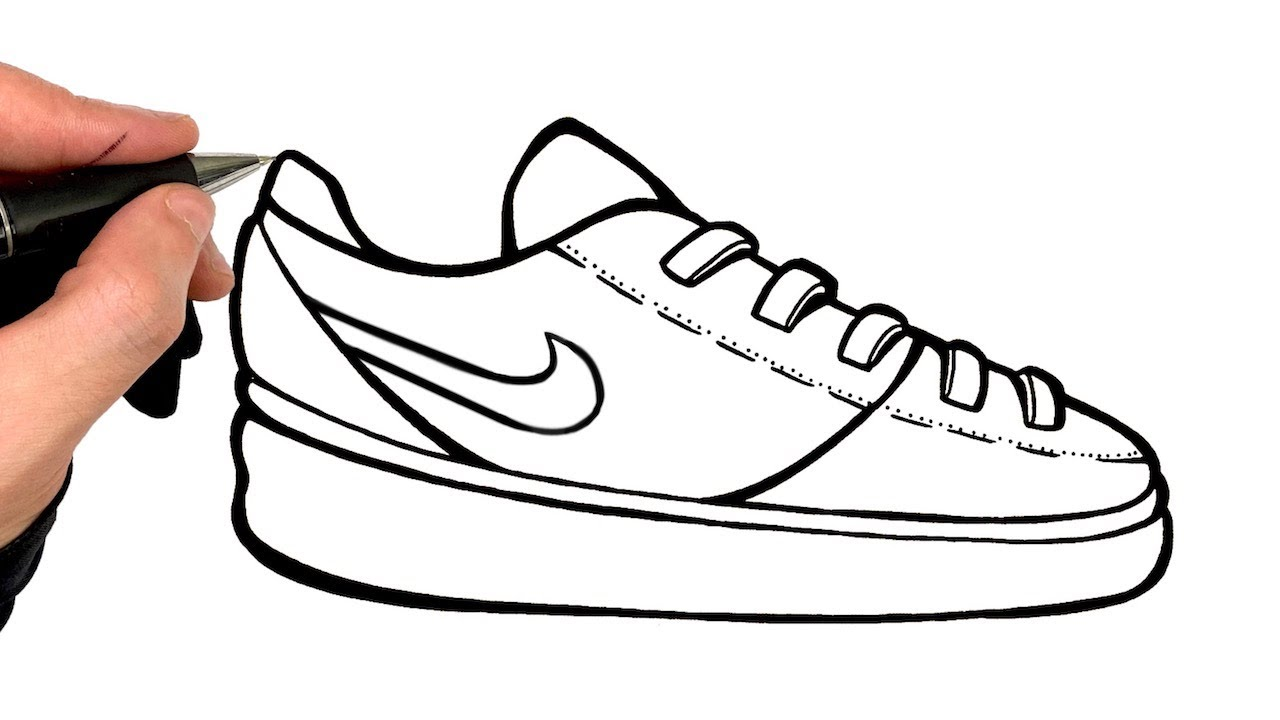 Comment Dessiner Une Chaussure Nike Sneakers Youtube