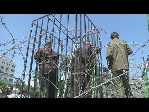 Plus d'un milliers de détenus palestiniens en grève de la faim