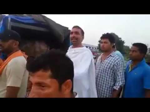 gomata Raksha Dal ne pkda gau se bhra truk