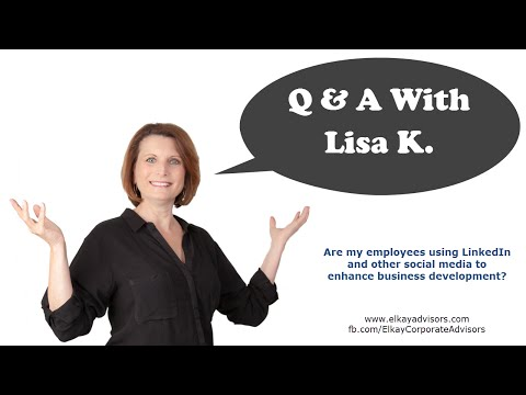Q&A w Lisa K. - Employee Use of Social Media to Help the Business