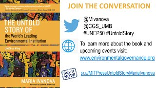 "Book Celebration:  ""The Untold Story of the World's Leading Environmental Institution UNEP at Fifty"""