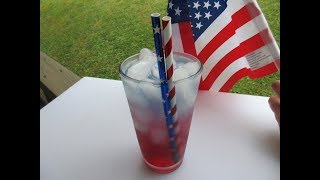 Red, White, and Blue DRINK - How to make a FESTIVE DRINK
