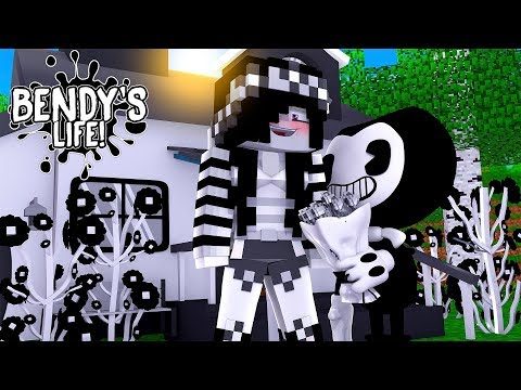 Minecraft BENDY'S LIFE || BENDY TURNS LEAH BLACK & WHITE TO REPLACE ALICE ANGEL || Roleplay