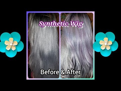 Easy way to dye synthetic wig! cheap!