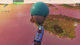 HILARIOUS GLITCH IN FORTNITE: BATTLE BUS GOES PAST ISLAND