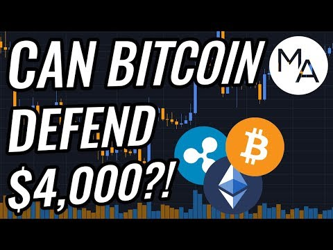 Bitcoin Back Below $4,000?! Is A New Crypto Markets Downtrend Coming?! BTC, ETH, XRP, & Stocks News!