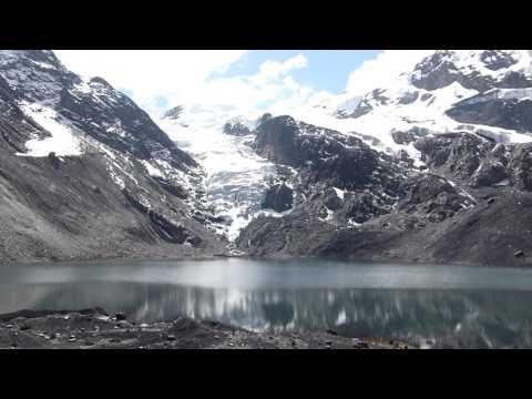 Pelechuco Lake, a glacier lake in the Bolivian Andes