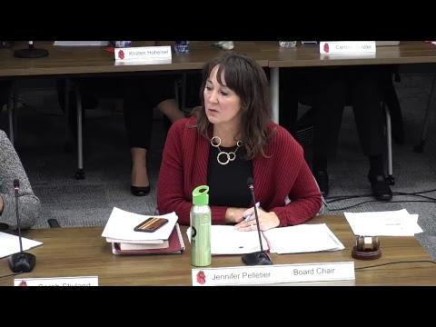 School Board Meeting - October 25, 2018