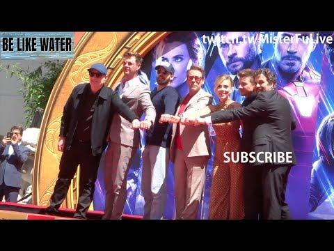 Scarlett, RDJ, Mark, Jeremy, Hemsworth, Evans @ Avengers Walk of Fame