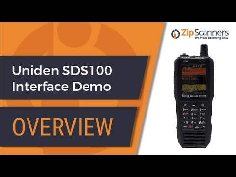 Uniden SDS100 Police Scanner Interface Demonstration