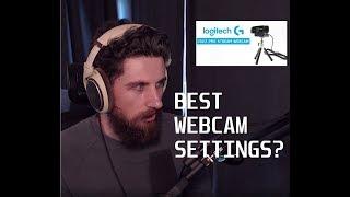 BEST WEBCAM SETTINGS? - Logitech C922 OBS
