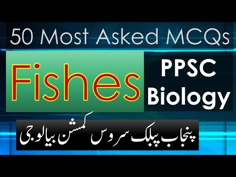 PPSC Biology | MCQs | Fishes | Most Asked 50 With Answers