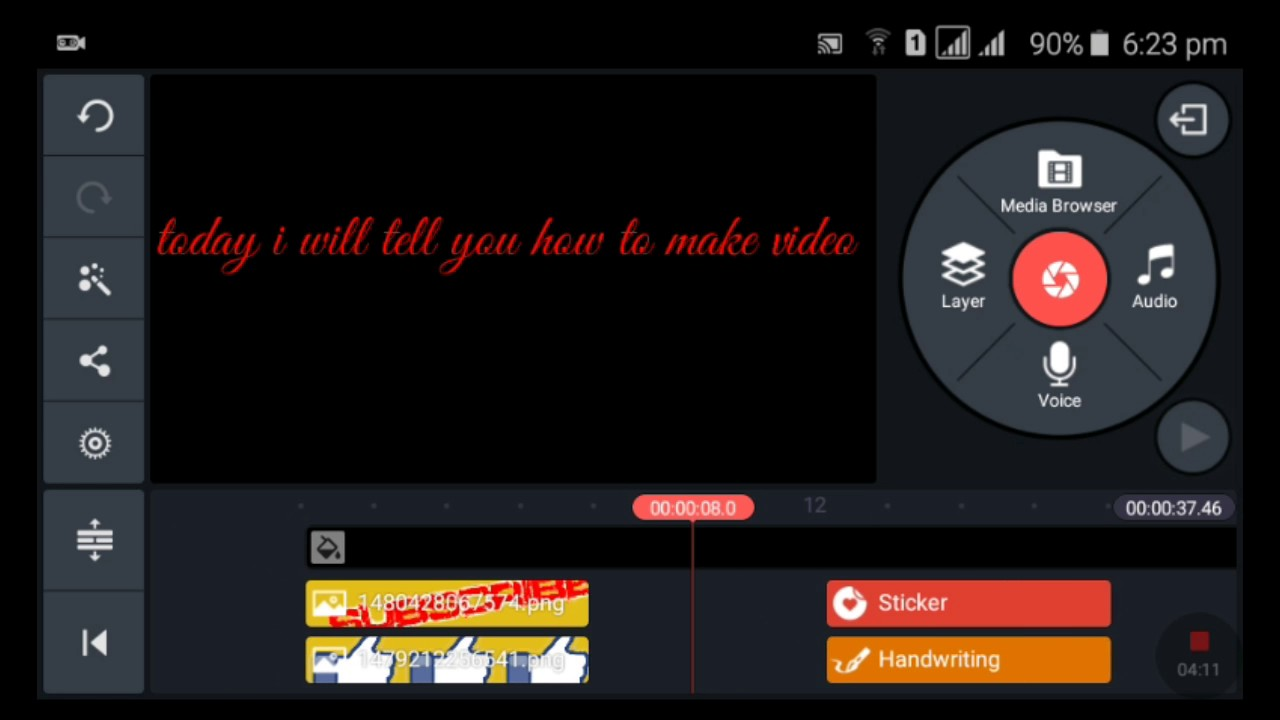 How to make video in kinemaster