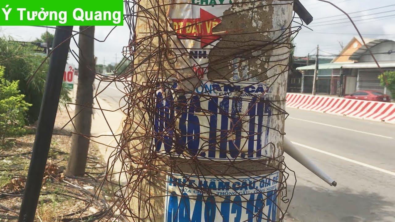 Quảng cáo trên cây xanh, cột điện, biển giao thông, clip thực tế | Ý Tưởng Quang