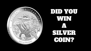 Winners of the Silver Coin Giveaway