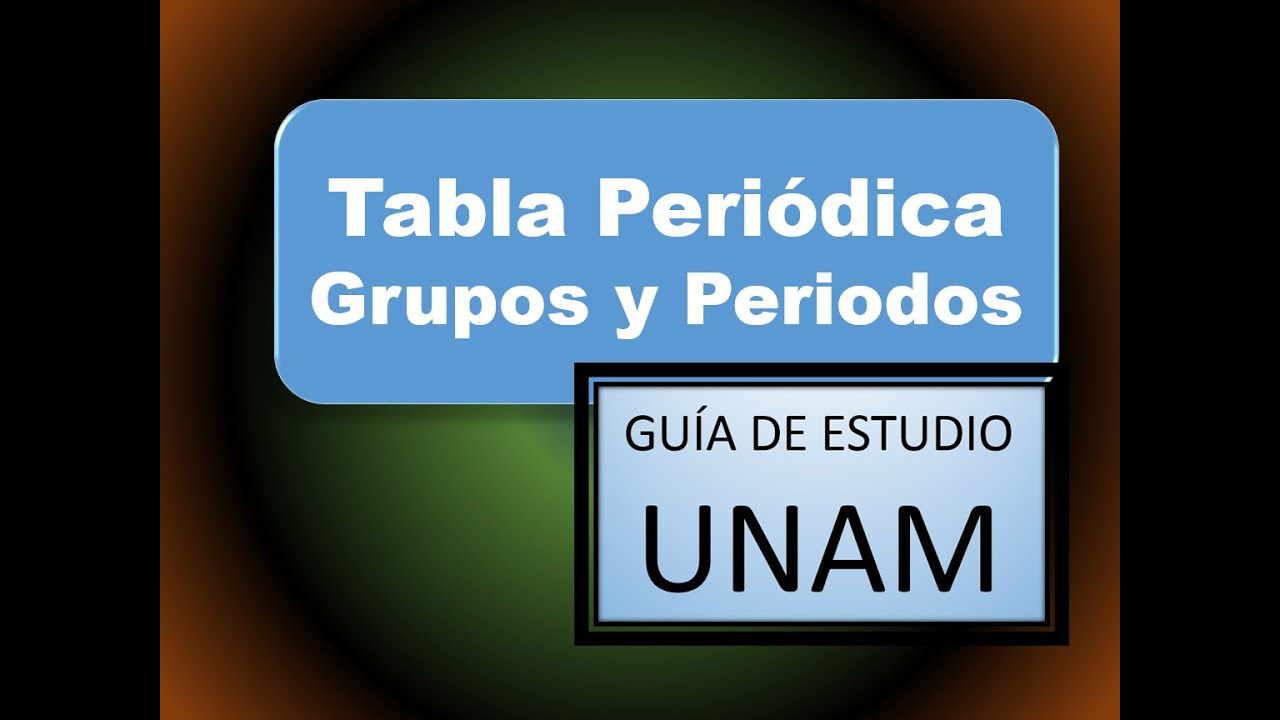 Grupos y periodos en la tabla periodica unam gua de estudio youtube urtaz Image collections