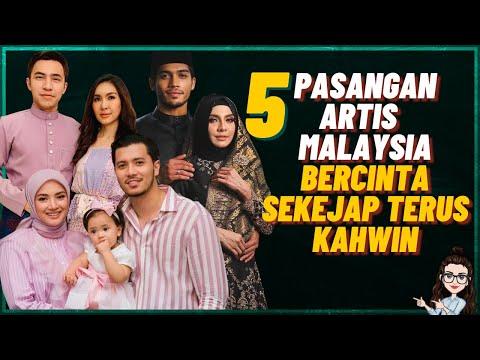 5 Pasangan Artis Malaysia Bercinta Sekejap Terus Kahwin (Baru 2 Bulan Rapat)