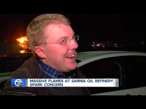 Massive flames at Sarnia oil refinery spark concern