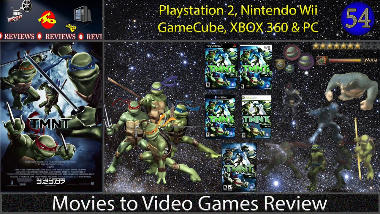 Movies To Video Games Review Tmnt Xbox360 Ps2 Wii