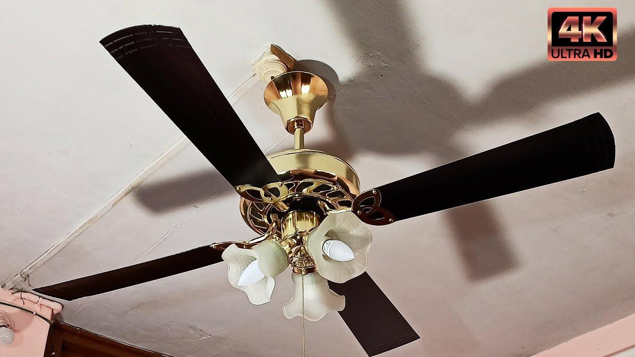 Ceiling Fan Falling Down Part 35   Vintage Ceiling Fan Made of 22 Carat Pure Gold   4K60fps