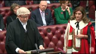 Karren Brady introduced to the House of Lords - 6 Nov 2014