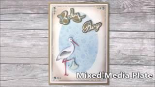 Nellies Mixed Media 10 CM Rouleau Manche en bois nmmr 001