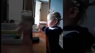"""Реакция малышки на песню Егора Крида """"Мне нравится"""""""